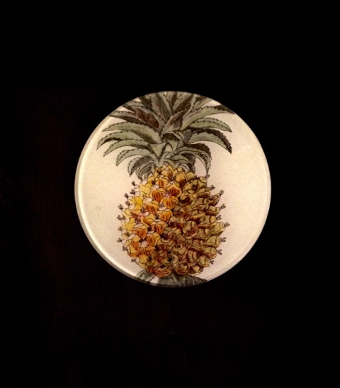 piatto decorativo tondo ananas
